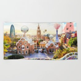Magic BCN Beach Towel