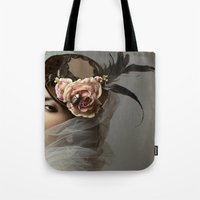 hat Tote Bags featuring hat by Cunene