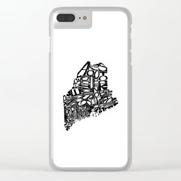 Typographic Maine Clear iPhone Case