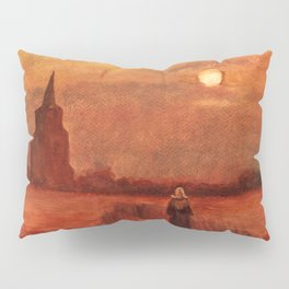The Old Tower in the Fields by Vincent van Gogh Pillow Sham