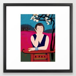 Under the Magnolia Tree Framed Art Print