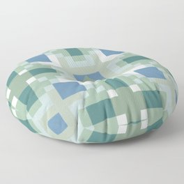 Gentle Shaded Plaid Floor Pillow