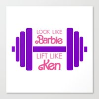 barbie Canvas Prints featuring Barbie by Free Specie