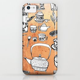 Chinese Tea Doodles 2 iPhone Case