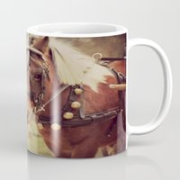 pony Mugs featuring Pony by KimberosePhotography