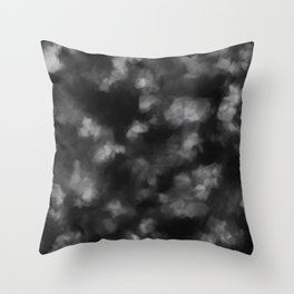 Black Heart in the Clouds Throw Pillow