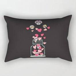 Sugar Skull Love Jar Rectangular Pillow