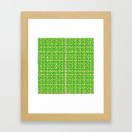 Four leaf clovers and gold horseshoes that are lucky for some Framed Art Print