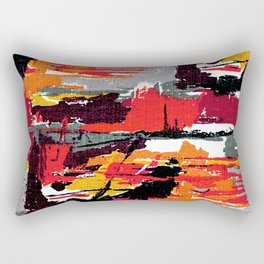 Mid-century Fabric Pattern 106 Rectangular Pillow