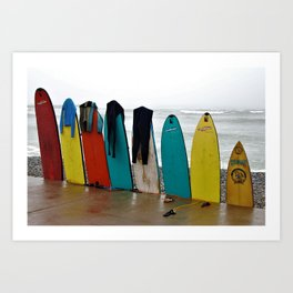 Wave Series Photograph No. 21. - Day's End Art Print