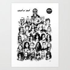 Rock n INK Art Print