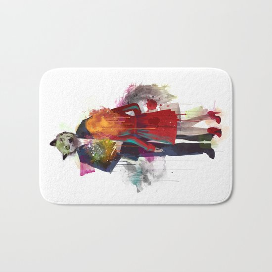 Red Riding, I Am Not Your Wolf Bath Mat