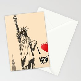 Statue we love Stationery Cards