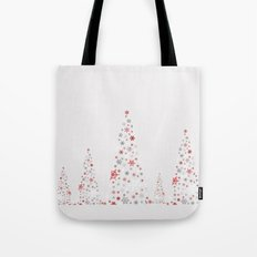 Snowflake Trees Tote Bag