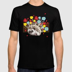 hedgehog Black MEDIUM Mens Fitted Tee