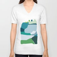 under the sea V-neck T-shirts featuring under the sea by frameless