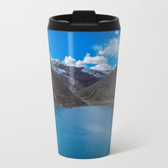 Blue Lake Metal Travel Mug