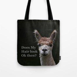 Funny hairstyle alpaca Tote Bag