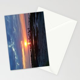 Sunset under Stormy Skies Stationery Cards