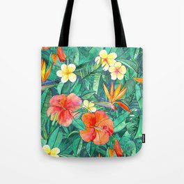 Classic Tropical Garden Tote Bag
