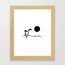 Afternoon surf  Framed Art Print