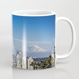 Seattle Overlook with Mt Rainier Coffee Mug
