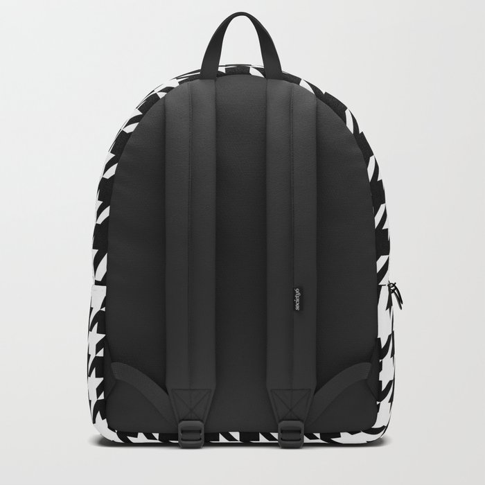 White/Black Houndstooth Backpack