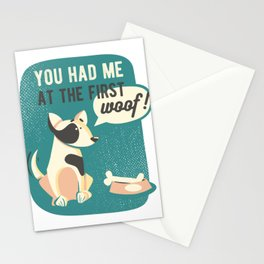 You Had Me At First Woof Dog Adoption Stationery Cards
