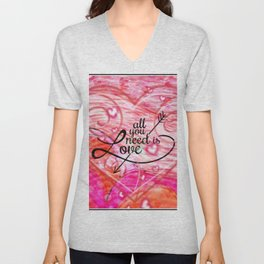All You Need is Love Unisex V-Neck