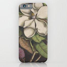 Dark Magnolia iPhone Case