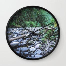 PNW Naturescape Wall Clock