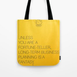 Startup Quote Poster Tote Bag