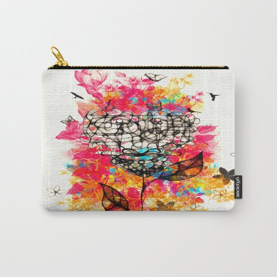 Abstract flower's face, colors Carry-All Pouch