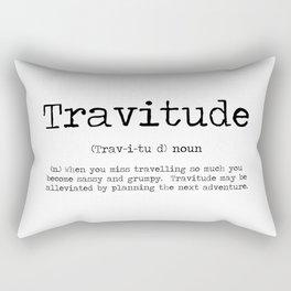 Tavitude -a definition of travel fomo Rectangular Pillow