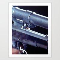 Blue Gun Art Print