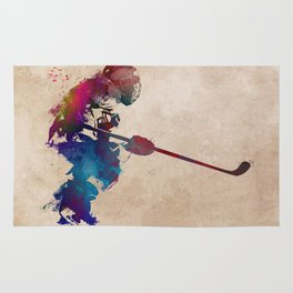 hockey player 2 #hockey #sport Rug