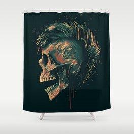 Dark skull illustration Shower Curtain