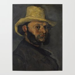 Gustave Boyer in a Straw Hat Poster