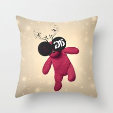 Little Pink Bear said :: Happy New Year 2015 :) '' Throw Pillow