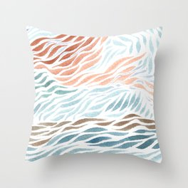 See the sea in the clouds Throw Pillow