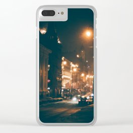 Karl Johans Gate At Night Clear iPhone Case