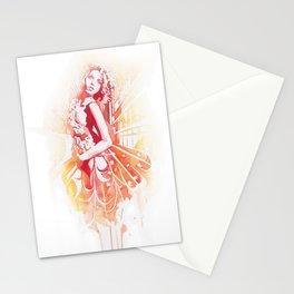 Lady on Fire Stationery Cards