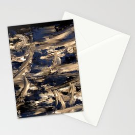 Abstract oil painting prosperity Stationery Cards