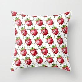 Strawberry Beetle Throw Pillow