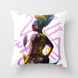 Feather Queen Throw Pillow