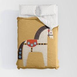 Festive Pony - illustration Comforters