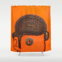 002: Clockwork Orange - 100 Hoopties Shower Curtain