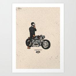 Caferacer Gentleman Art Print