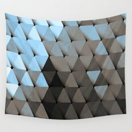 Triangles Blue Putty Wall Tapestry