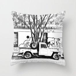 B&w urban stories Throw Pillow